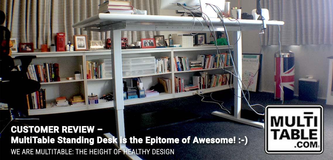 Standing Desk Customer Review MultiTable Standing Desk Is The Epitome Of Awesome