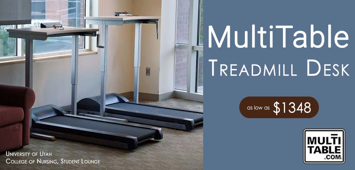 Getting Healthy With Treadmill And Adjustable Standing Desks MultiTable