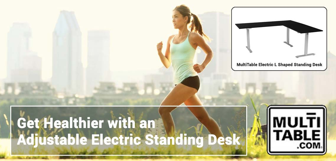 Get Healthier With An Adjustable Electric Standing Desk MultiTable