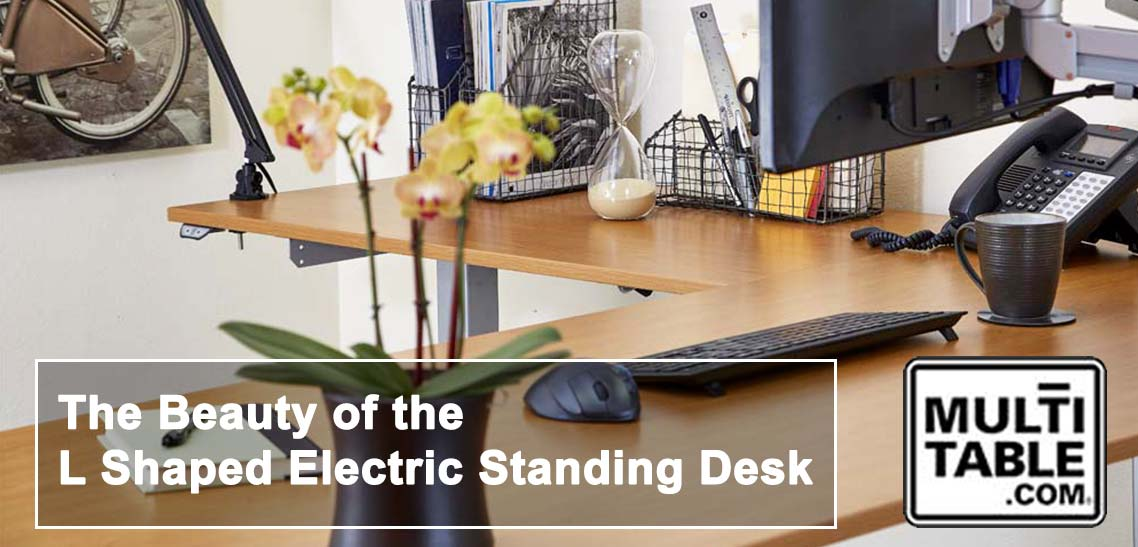 The Beauty Of The L Shaped Electric Standing Desk MultiTable