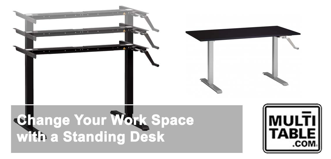 Change Your Work Space With A Standing Desk MultiTable