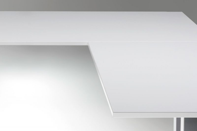 Standing Desk Top White L Shaped