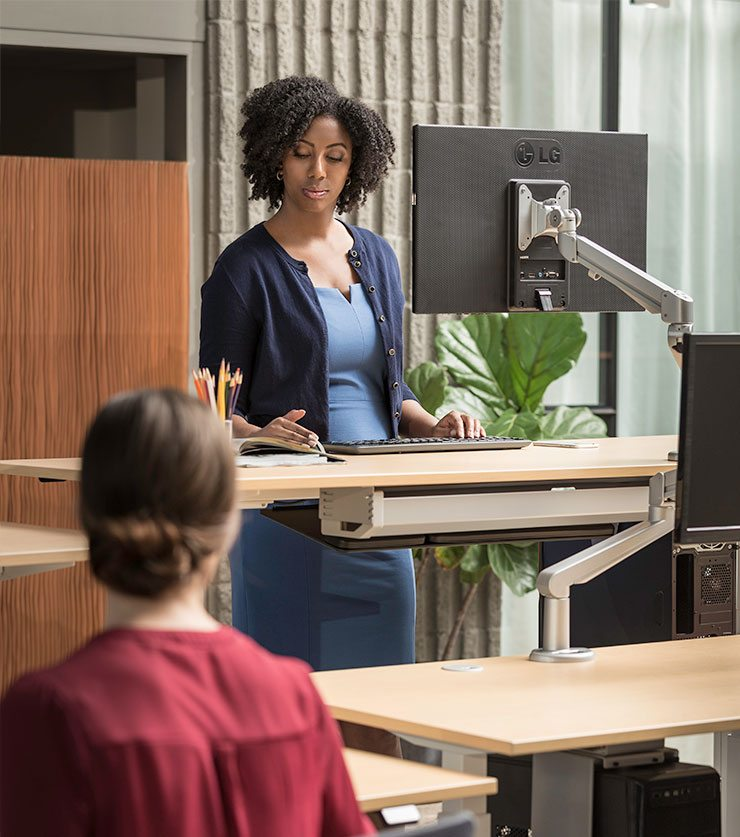 Standing Desk Benefits Why Stand With MultiTable Height Adjustable Stand Desk