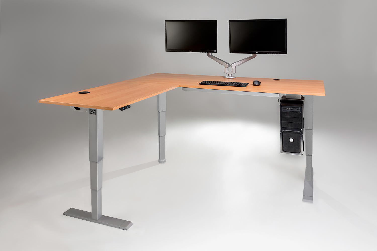 MultiTable L Shaped Standing Desk With All Accessories
