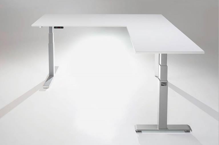L-Shaped Height Adjustable Standing Desk by MultiTable