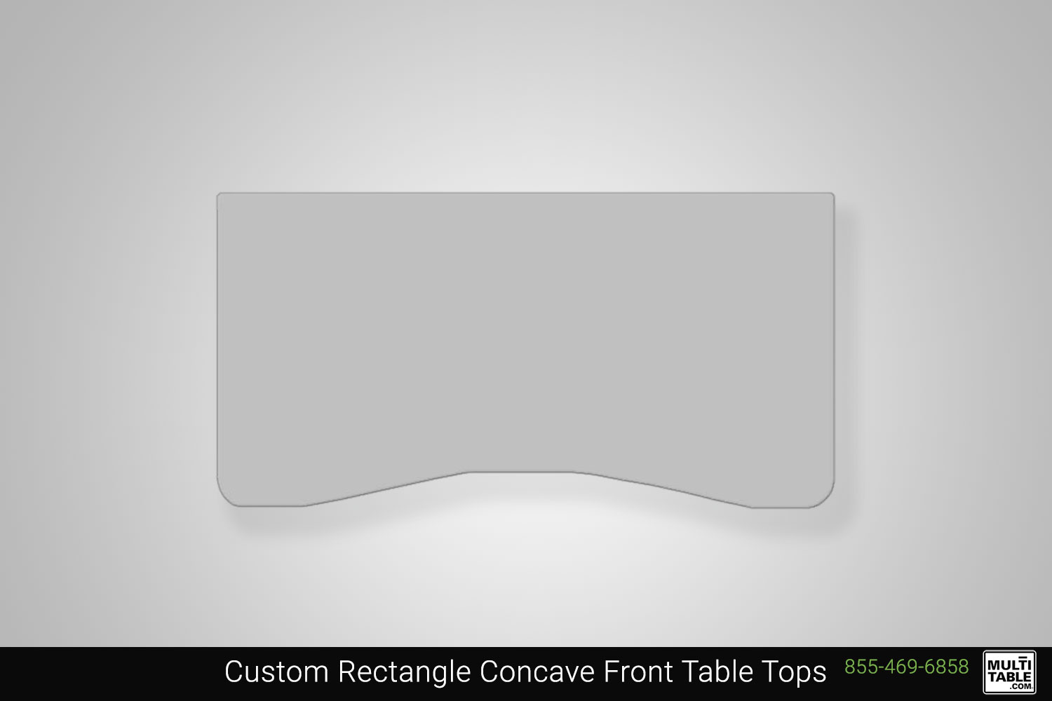 Custom Rectangle Concave Front Standing Desk Table Top Shape Options MultiTable Office Furniture Manufacturing Phoenix Arizona Since 2010